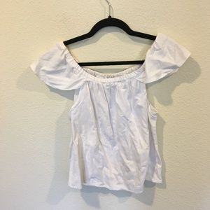 Madewell Tops - Madewell off the shoulder white top